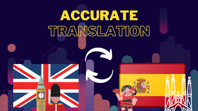 Translate English to Spanish BY HAND