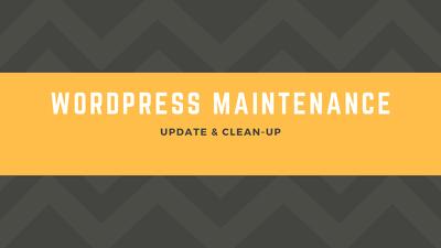 Update and Clean-up WordPress Website