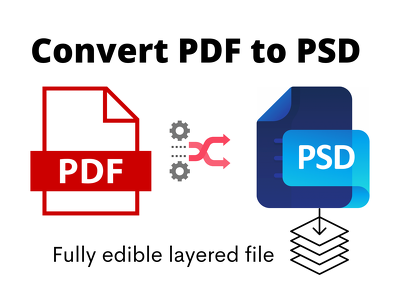 Conversion your pdf into editable files