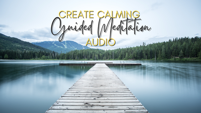 Record a guided meditation voiceover in a calming female voice