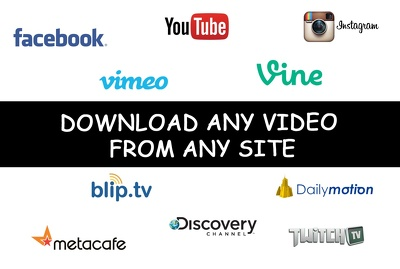 Download any video or audio from any website