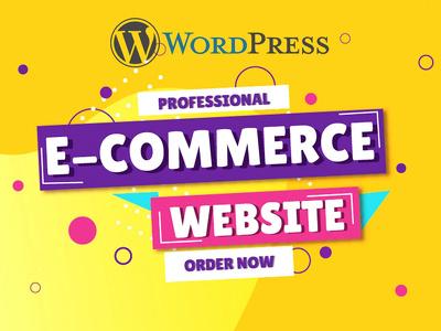 Build wordpress ecommerce website and blog