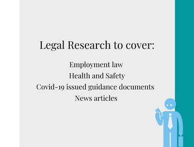 Undertake 7 hours of legal research covering the listed areas