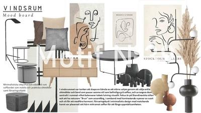 Make a 2D plan, mood board & sample board of your room´s design