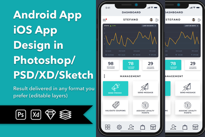Design Creative Modern Professional Android or iOS app template