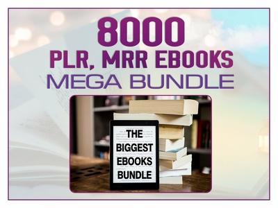 8000+ PLR MRR Ebooks Mega Bundle