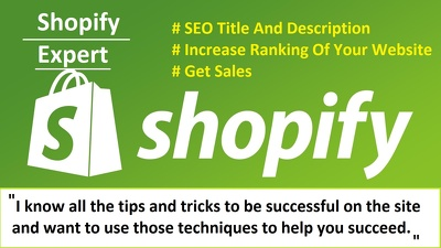 Write SEO titles and product descriptions on shopify