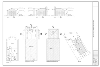 Create house new addition & extension permit drawings in AutoCAD