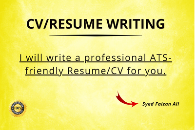 Write an amazing CV / Resume which sells.