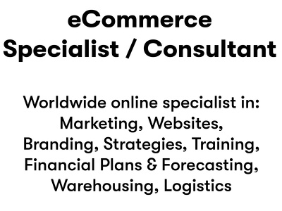 Provide 15 minutes of eCommerce business consultancy