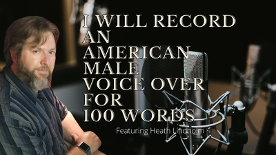 Record an American Male Voice Over for 100 words