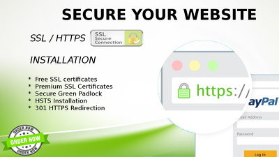 Install ssl certificates, fix ssl issues , enable https