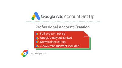 Professional Google AdWords Set Up & Optimisation