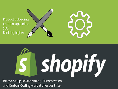 Setup your theme on shopify + upload products +Content