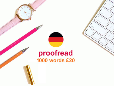 Proofread any GERMAN TEXT