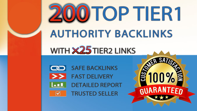 Boost website ranking with high authority backlinks 2 tier links