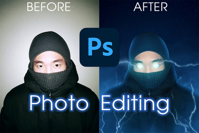 Edit, manipulate your photo professionally up to 2 picture