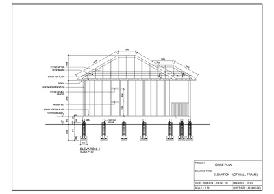 Will create house wall framing drawings in AutoCAD.