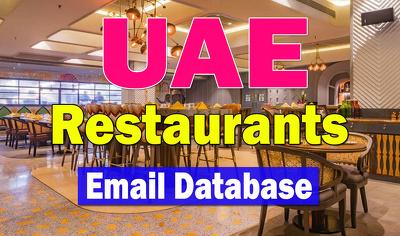 UAE Restaurants Email Database