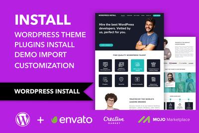 Install wordpress theme customize exactly look like the demo