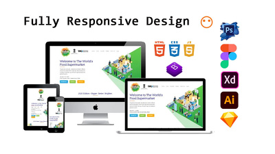 Convert PSD To Html Responsive Website Design+Unlimited Revision