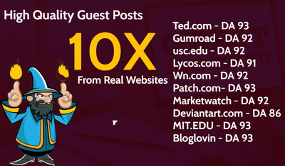 10 Guest Posts on Dofollow High Authority Domains