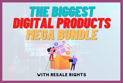 Send you biggest digital products bundle