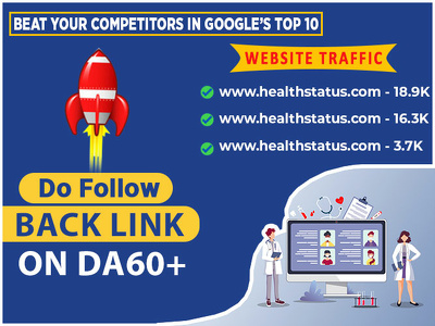 I will do health guest post on DA60+ blog with dofollow link