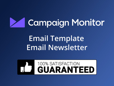 Design Email Template or Newsletter for campaign monitor