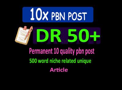 Build 10 DA50+ PBN Backlink For seo