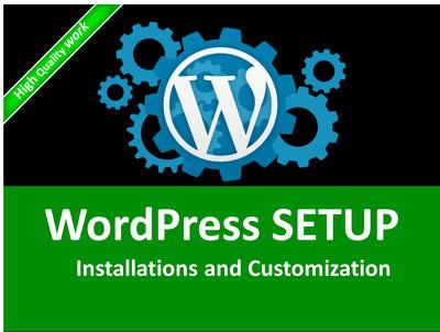 Install wordpress theme and plugins