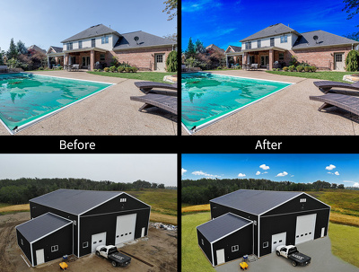 Do real estate photo editing and retouching 10 images