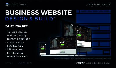 Design & build a stunning website (business startup)