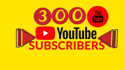 Get you 300 organic Youtube Subscribers (Life-Time-Guarantee)