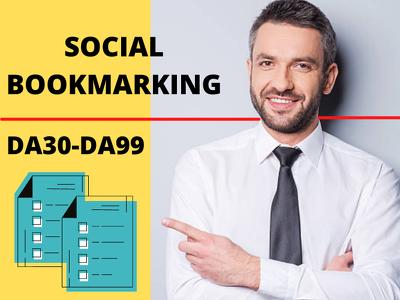Do for you 150 social bookmarks on high da do follow sites