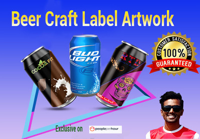 Design label artwork to your craft beer can