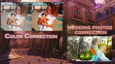 Professionally edit or retouch 3 photos with photoshop.