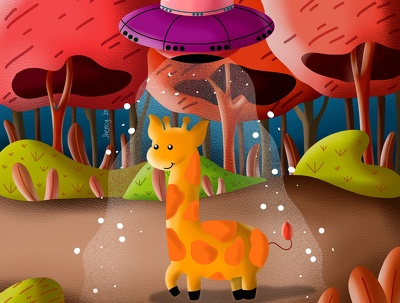 Draw a cute illustration using Procreate