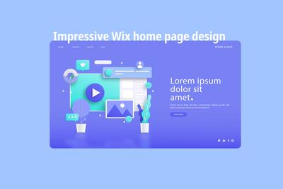 Create an impressive Wix home page design