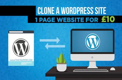 Renew Your Website or Clone Existing Wordpress Website Copy