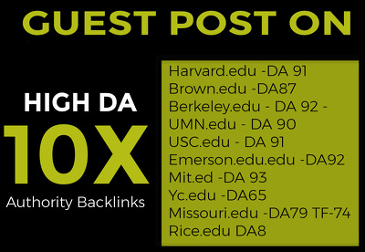 Boost Your Website With 10X High-Authority Edu Guest Post DA70-9
