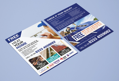 Create Professional double-sided flyer design or leaflet design