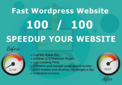 Get your WordPress website Speed Optimized