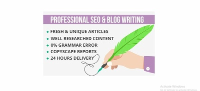 Write a 500 words SEO article in 24 hours