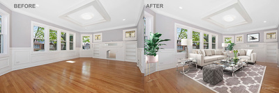 Do Virtual Staging  using 3d furniture per photo