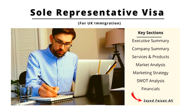 Draft a Business Plan for the UK Sole Representative Visa