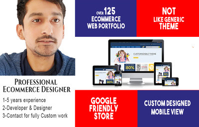 Develop a fully optional ecommerce website