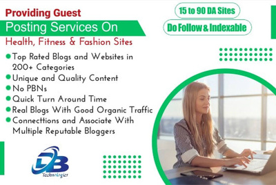 Provide you Guest Post on Health, Fitness and Fashion Sites