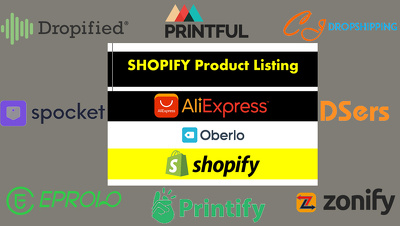 Do shopify product listing, oberlo to shopify listing