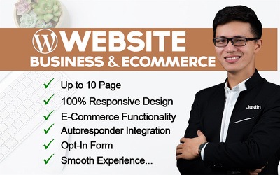 Design professional business and ecommerce wordpress website